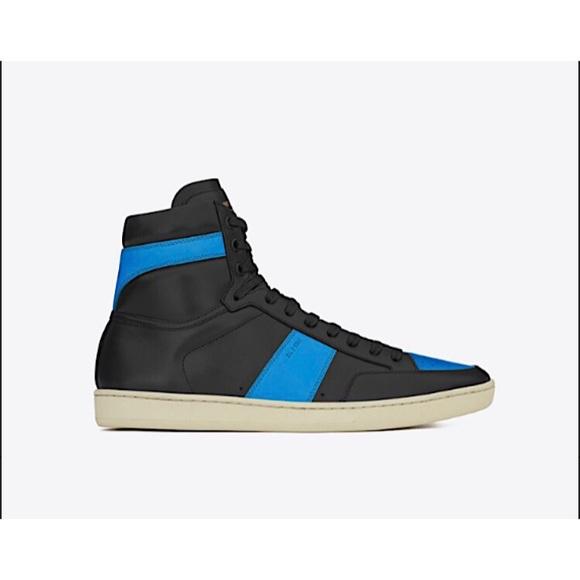bb6a96bda5e Saint Laurent Shoes   Sl 10h High Top Leather Sneakers   Poshmark